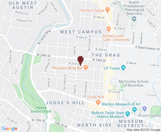 Map of The Standard Austin